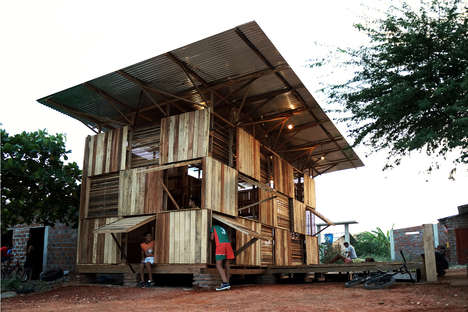 Easy-Build Wooden Homes - This Pine Wood Home Only Took Ten Days To Build
