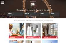 Customizable Hotel Bookings - GLH Hotels' Site Encourages Guests to 'Choose Your Own Room'