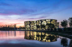 Rose-Perforated Buildings - The World's First Rose Museum Displays Its Main Subject Front and Center