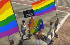 Pride-Inclusive Action Games - Stockholm Pride Added a Rainbow-Filled Parade to GTA 5