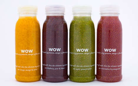 Cold-Pressed Chia Seed Drinks - These Cold-Pressed Juices are Packed with Superfood Ingredients