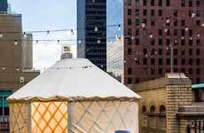 Glamping Yurt Rooftops - The W Hotel Lets Guests to Book a Cozy Circular Tent to View the City From