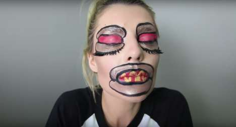 Dramatic Weiner Makeup - Grace Helbig's National Hot Dog Day Look is Inspired by Drag Queen Makeup