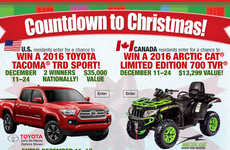 Promotional Holiday Giveaways - Bass Pro's 'Countdown to Christmas' Campaign Featured Big Prizes