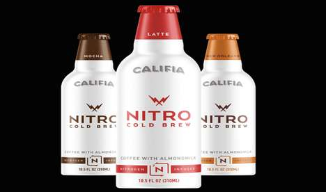 Vegan Nitro Coffees - Califia Farms' Newest Beverages are Nitrogen-Infused Almond Milk Coffees