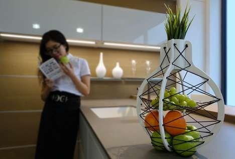 Suspended String Fruit Bowls