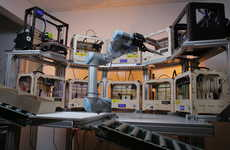 Robotic Printing Systems - Tend.ai's Robot 3D Printer is Fully Automated