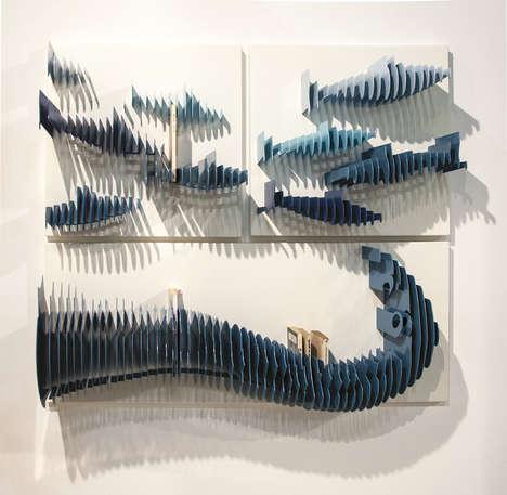 Reinterpreted Upright Bookshelves