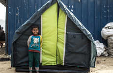 Reversible Homeless Shelters - The WeatherHyde is a Fully Insulated Shelter Built for All Seasons