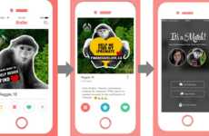 Monkey Matchmaking Campaigns - The Body Shop is Promoting Its CSR Planting Program Through Tinder