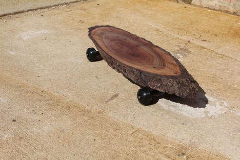 Wooden Slab Longboards