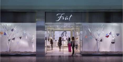 Faux Luxury Underwear Shops - Fruit of the Loom's Fake 'Früt' Store Shows Image Isn't Everything