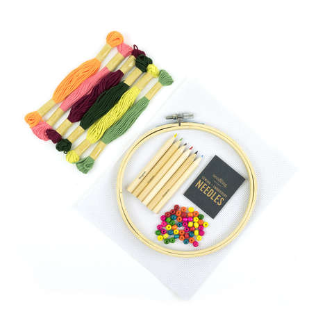 Children's Cross-Stitch Kits - Seedling's Cactus Embroidery Kit Encourages Hands-On Play