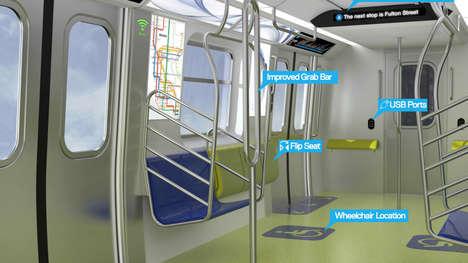 Tech-Friendly Metropolitan Subways