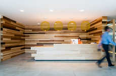 Rustic Wooden Offices - Each Room in This Wood-Clad Office Has a Prominent Timber Accent