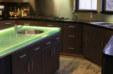 LED Glass Countertops