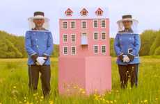 Filmic Bee Hotels - This Bee Home is Designed After Wes Anderson's Grand Budapest Hotel
