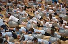 Record-Breaking Fitness Classes - Müllerlight Created the World's Largest Exercise Ball Workout