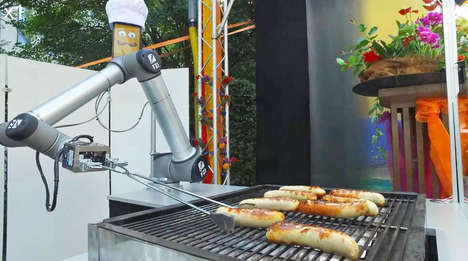 Sausage-Grilling Robots - 'BratWurst Bot' Takes Customer Orders, Cooks and Serves Food