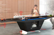 Adaptable Kitchen Islands - The Venue Kitchen Is Self-Adjusting in Height to Offer Ergonomic Cooking