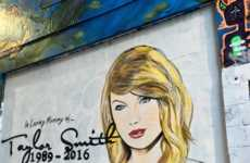Fake Memorial Murals - 'lushsux' Depicted the Internet's Response to the Recent Taylor Swift Feud