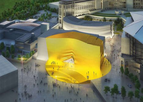 Warped Golden Facades - The 'Paradise City' Will Feature Curvaceous Lines and a Spot of Gold