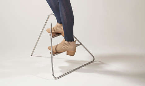 Pyramidal Step Ladders - The 'Triangle Step Ladder' Brings Style to a Utilitarian Tool