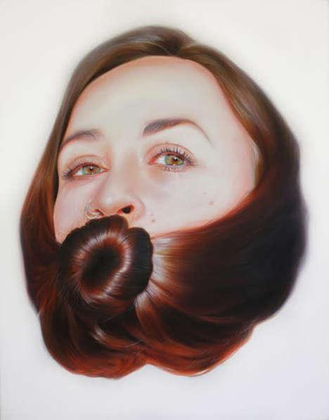 Conceptual Hair-Wrapped Portraits