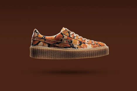 Platform Camouflage Sneakers