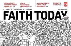 Color-In Magazine Covers - Faith Today's Summer Magazine Cover Design Encourages Creativity