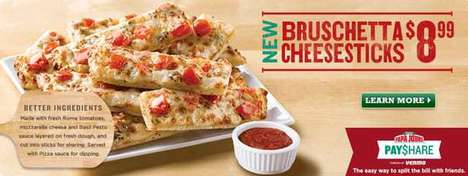 Tomato-Topped Cheese Sticks - Papa John's Bruschetta Cheesesticks Elevate a Popular Appetizer