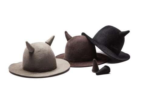 Horned Rabbit Fur Hats
