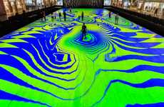 Kaleidescopic VR Flooring - Funky Magic Carpets Bring Mesmerizing Patterns to Milton Keynes