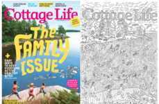 Coloring Cottage Magazines - Cottage Life's Summer Edition Features a Color-In Cover