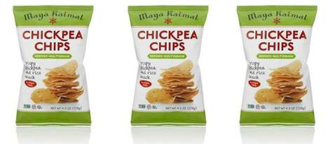 Spiced Protein Chips - The Maya Kaimal Snacks are Made Using Chickpeas and Rice Instead of Potato