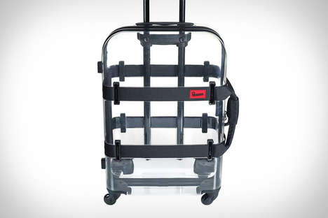 Clear Rolling Suitcases