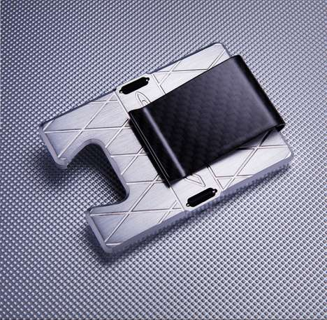 Multifunctional Money Clips - The FLP CLIP Ensures Durable Card Security With a Carbon Fibre Shell