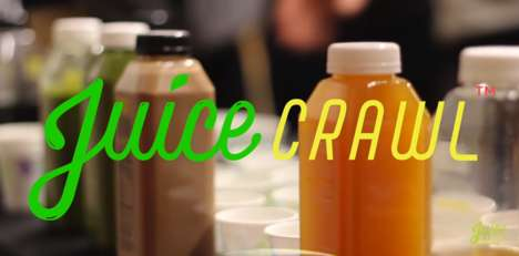 Social Juice Bar Tours - Juice Crawl is Like a Pub Crawl for Those Who Enjoy Green Juice