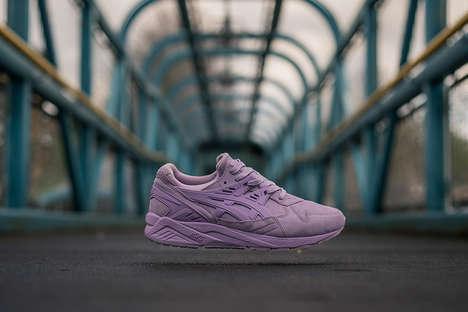 Monochromatic Lavender Sneakers