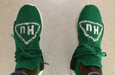 Suspenseful Sneaker Releases - Pharrell X adidas NMD Human Race Released a Green Colorway