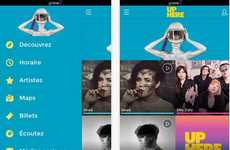 Festival Discovery Apps - The Up Here Festival Platform Lets Users Map Their Festival Experience