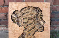 Laser-Cut Wooden Art