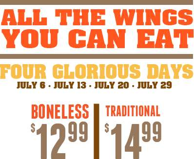 Unlimited Chicken Wing Promotions