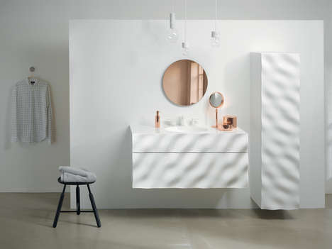 Sea-Inspired Bathrooms - Phillip Aduatz's Furniture Recreates the Wave Patterns of Water