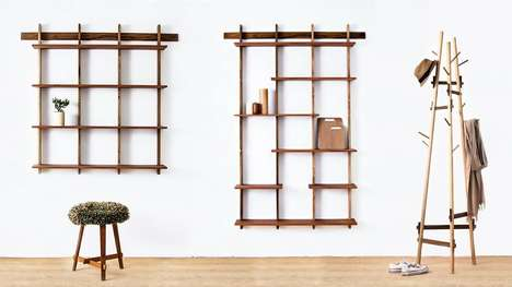 Livestreaming Furniture Builders - Sudacas Livestreams the Building of Bookshelves and Coatracks