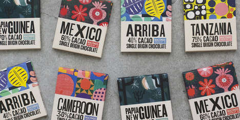 Artistic Chocolate Packaging - These Healthy Chocolates are Inspired by a Fictional Town