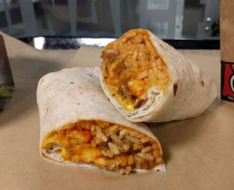Cheese Puff-Filled Burritos