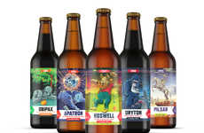 Sci-Fi Beer Branding - These Beer Labels Feature Fictional Events and Characters