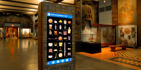 Culture-Connecting Kiosks - The American Museum of Natural History Uses Digital Totems to Share Data