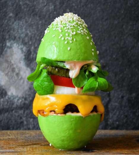 Vegan Avocado Burger Buns